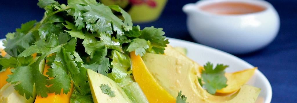 Mango Salad with Grapefruit Ginger Vinaigrette
